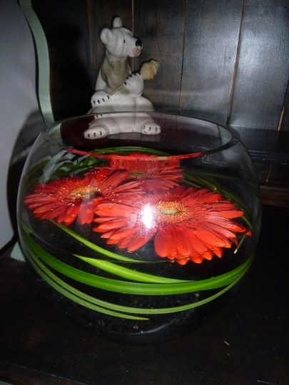 Gerbera flower bowl