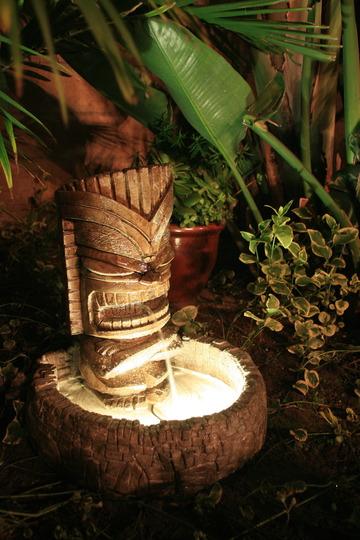 Mighty Jebus Tiki Water Fountain