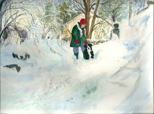 A wintry Scene [My Latest Painting]