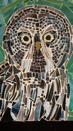 Great Grey Owl Mosaic