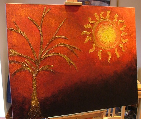 autumn gold (wall art painting)