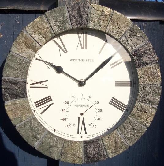 garden clock bought today