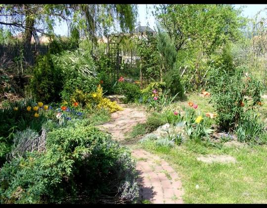 April view down the path