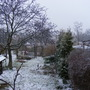 Cold view overlooking the top garden at the back of our house