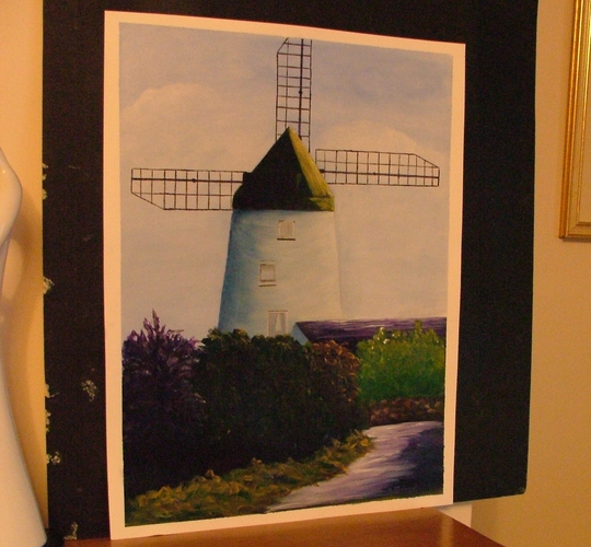 staining windmill