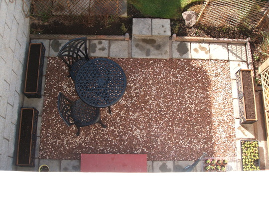 Kitchen Patio From Above