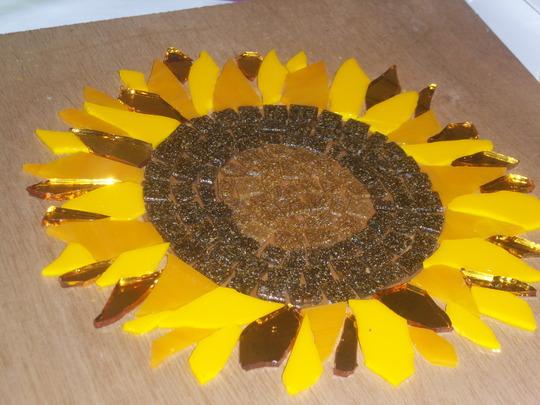 Beginning of my sunflower mosaic