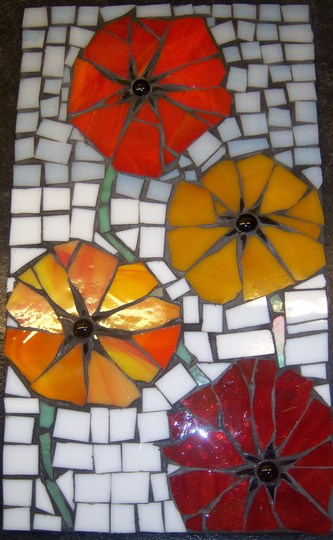 Icelandic Poppies Mosaic Complete