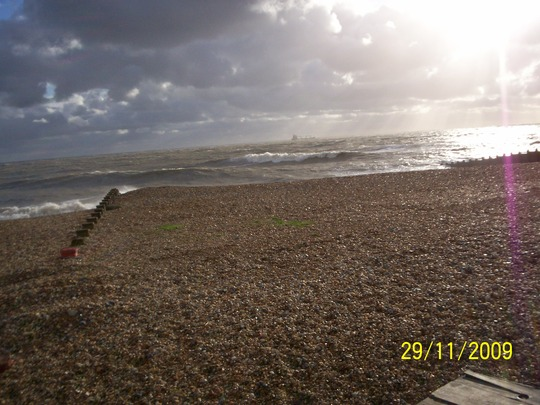 November beach