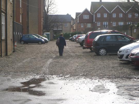 shingle car park