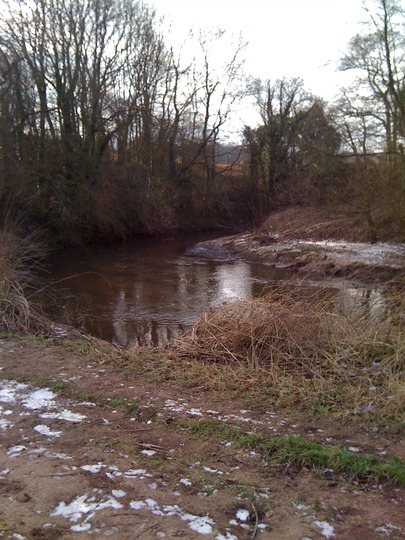 The Bollin in winter.