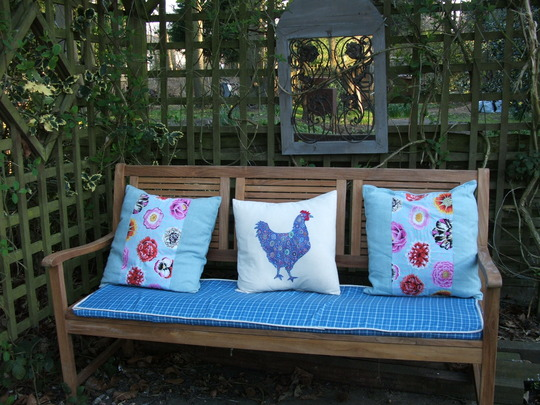 Cushions for new bench