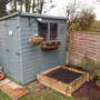 my revamped shed and the new veggie plot..