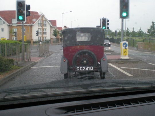 A VINTAGE CAR IN PETERBOROUGH 1936 AUSTIN
