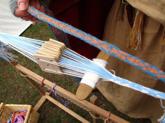 Anglo Saxon belt making