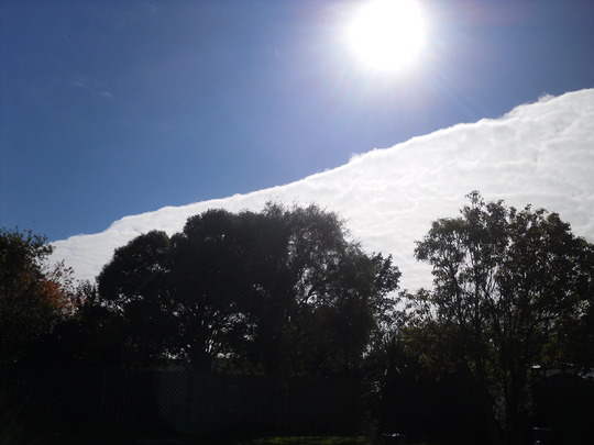 Strange cloud formation Anzac Day New Zealand