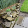 Our front garden rockery along side the boundary wall.