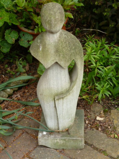 New  / Old  garden ornament