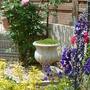 The back corner of the long, side garden...