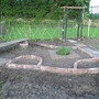 This is the new herb garden on the allotment.I have more herbs and slabs to put in yet.
