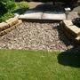 `New stone croft `walling.