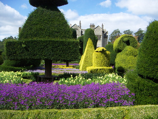 Topiary garden at Levens Hall