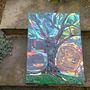 Tree with Owl at sunrise mosaic