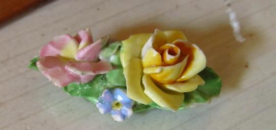 Coalport Flower Brooch...