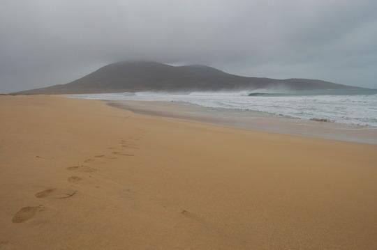 the beach one minute