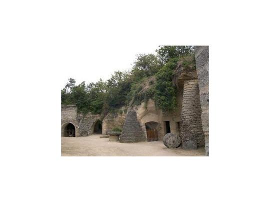 3561531 a troglodyte courtyard Saumur
