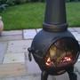 chiminea aglow