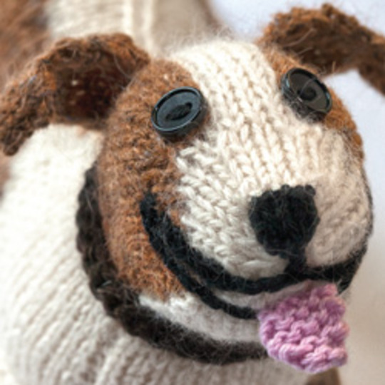 A knitted staffie!