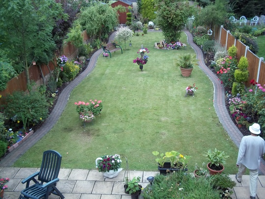 a view after cutting the grass