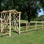 Rustic Bespoke Chestnut Garden Arch - Cleft Rail Fence