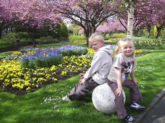 In the Park in Spring (Letham Glen, Leven, Fife)