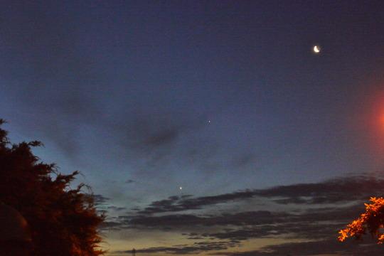 July - Venus, Jupiter and Moon...