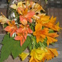 Peruvian lilies in a crystal basket