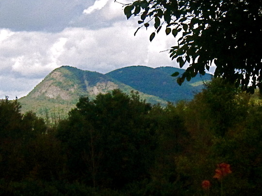 View of Haystack from my garden
