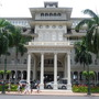 Roystonea regia - Royal Palms at The Moana Surfrider Hotel in Honolulu, HI (Roystonea regia - Royal Palm)