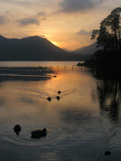 Sunset in the lakes last November.