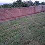Lawn laid and flower beds prepared