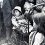 Johnjoe and little cousin Margaret 1950