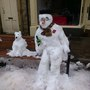 Snowman and his dog!