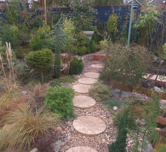 Gravel garden fully planted