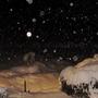 Moon night snow
