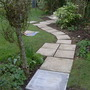 Laying new path and patio to the arbour March 23rd 2013 002