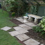 Laying new path and patio to the arbour March 23rd 2013 003