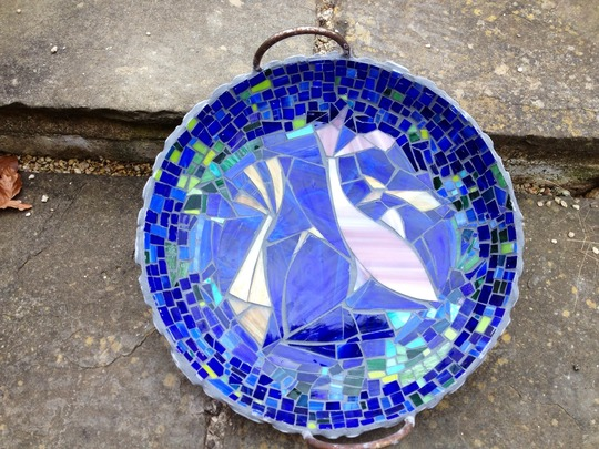 Bird bath mosaic..