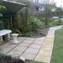 Laying new path and patio to the arbour March 23rd 2013 019