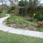 Laying new path and patio to the arbour March 23rd 2013 018